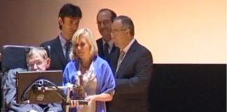 Acto de entrega do premio Fonseca a Hawking, no que impartiu a súa conferencia.