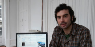 Adrián Estévez, Estevo, unha das persoas que administra a Galipedia. Foto: R. Pan.