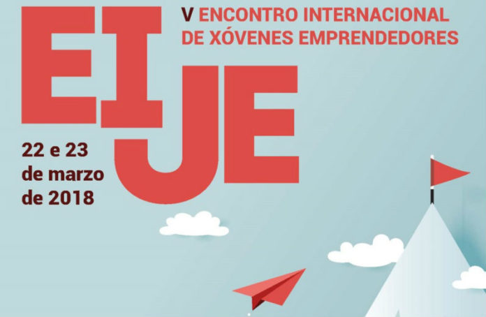 Cartel do Encontro Internacional de xóvenes emprendedores.