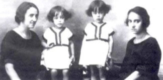 Elisa e Jimena Fernández de la Vega, xunto ás fillas da primeira.