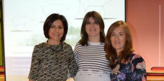 Inmaculada Orjales (centro), xunto ás directoras da súa tese sobre o gando vacún de leite, Marta López-Alonso e Marta Miranda Castañón. Foto: USC.