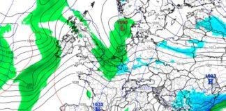 Predición dun dos modelos meteorolóxicos para o xoves 22, a semana que vén. Fonte: tropicaltidbits.com.