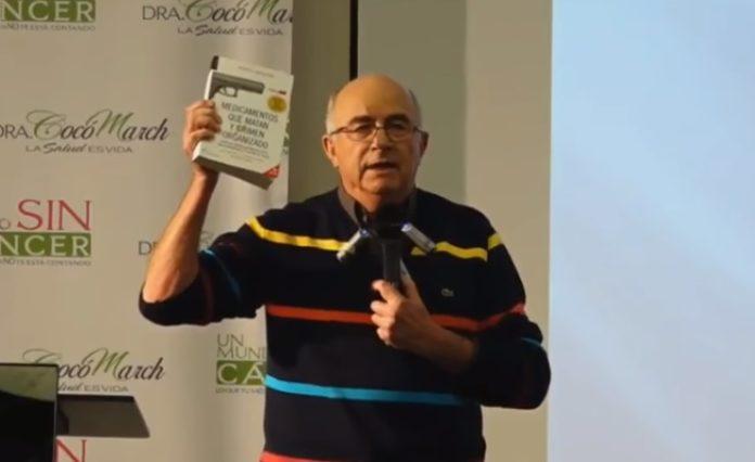 Josep Pàmies, durante a súa intervención no congreso de pseudociencias 'Un mundo sin cáncer',