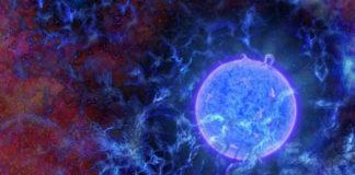 Ilustración do entorno das primeiras estrelas do universo, cuxo sinal foi detectado polos científicos estadounidenses. / N.R.Fuller, National Science Foundation.