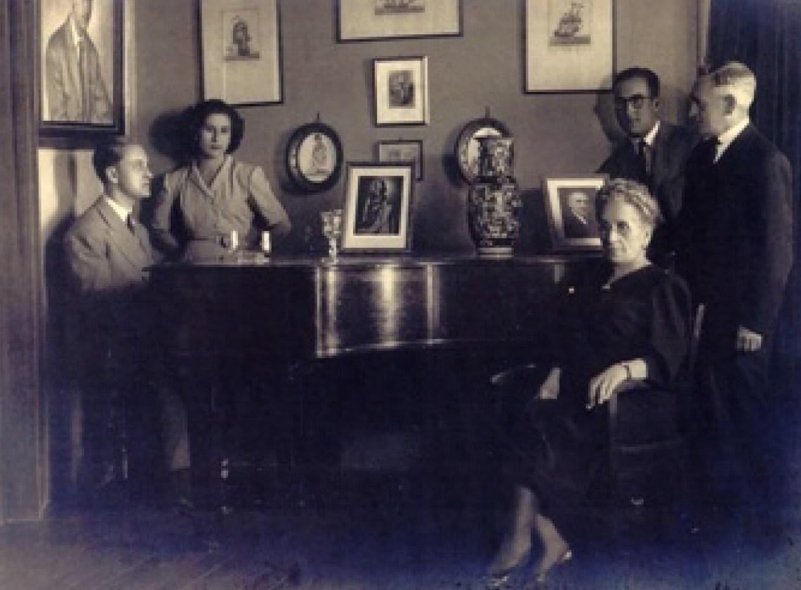 María Barbeito e a súa familia