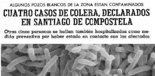 O gomo de cólera de 1975 causou inquedanza en Santiago e a comarca.