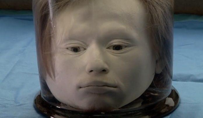 A cabeza de Diogo Alves, conservada en formol. Fonte: Cuatro.