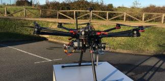 Sistema radar embarcado no drone patentado para detectar minas antipersoa. Foto: DUVI.
