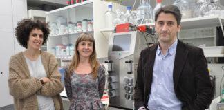 Beatriz Mouriño, María Pérez e Emilio Marañón, da Universidade de Vigo. Foto: Duvi.