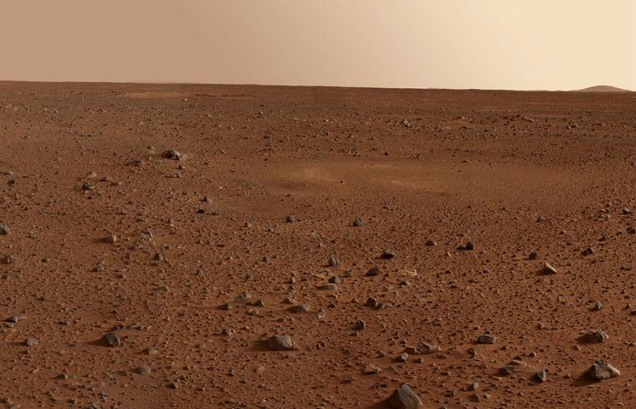 Superficie de Marte retratada polo robot Spirit da Nasa.