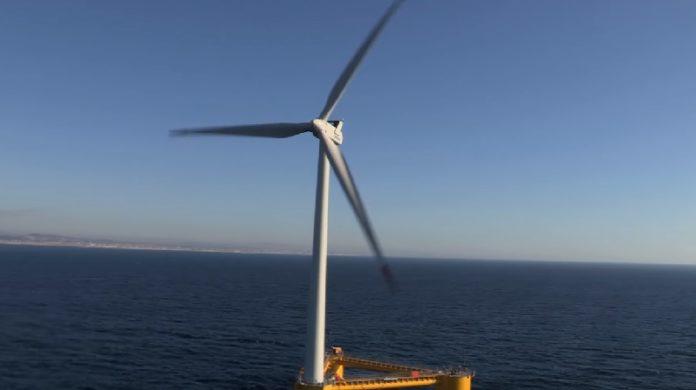 Portugal xa puxo en marcha un parque de enerxía eólica mariña fronte a Viana do Castelo. Fonte: Principle Power.