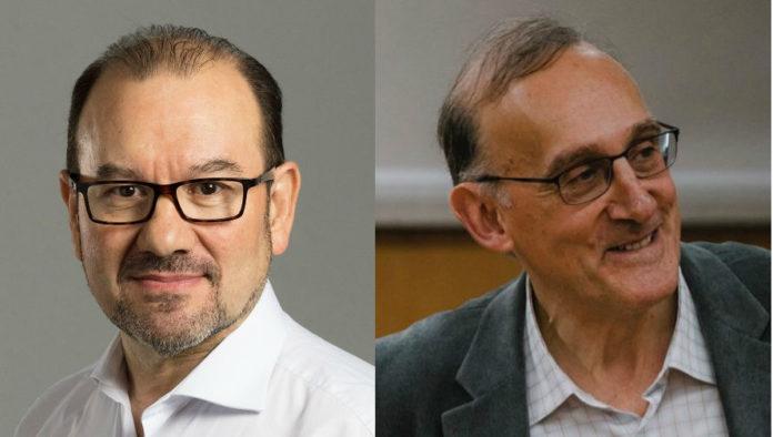 Antonio López e Manuel Reigosa, novos reitores da USC e a UVigo, respectivamente.