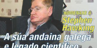 Cartel da charla de homenaxe a Stephen Hawking.