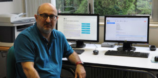 Xavier Gómez Guinovart responsable da dirección, programación e deseño do Cluvi, organismo impulsor da Biblia políglota en galego. Foto: Duvi.