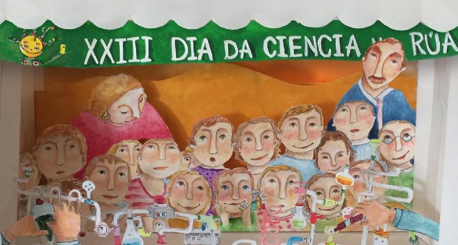 Cartel do 23º Día da Ciencia na Rúa.