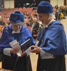 Paz Andrade, xunto a José Luis Legido.