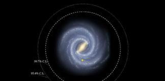O traballo expón a posibilidade de que haxa estrelas na Vía Láctea fóra dos límites coñecidos ata agora. Imaxe: Representación artística de R. Hurt, SSC-Caltech, NASA/JPL-Caltech.