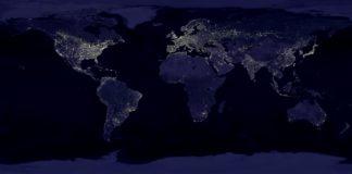 O aspecto nocturno sumultáneo en toda a Terra.