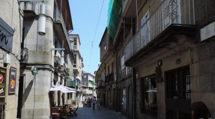 O Camiño Portugués de Pontevedra, por onde pasan os peregrinos para chegar a Santiago de Compostela.
