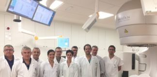 Na foto, o equipo multidisciplinar de radiocirurxía.