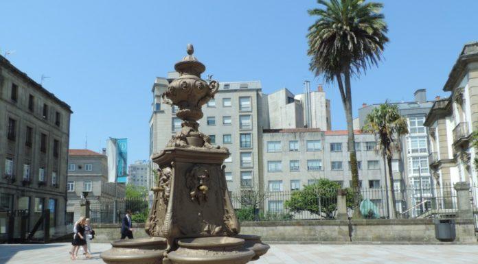 Unha das catro fontes características de Pontevedra
