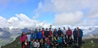 Xornada de convivencia nos Picos de Europa organizada pola USC e a universidade de Cumbria. Foto: USC.