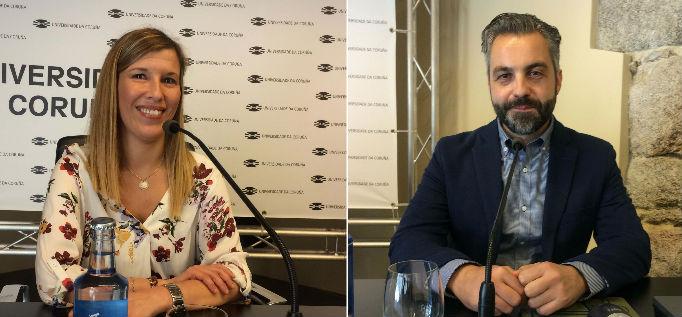 Ana Rey e Jorge Ledo, dous novos investigadores de excelencia para a Universidade da Coruña. Foto: UDC.