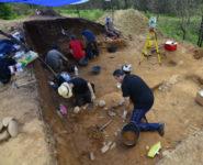 Escavacións en Porto Maior. Foto: Eduardo Méndez Quintas.