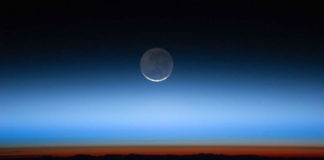 A tropopausa delimita a fronteira entre troposfera e a estratosfera. Foto: NASA.