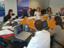 Reunión sobre o 'hub' biotecnolóxico en Porto do Molle. Foto: CZFV.