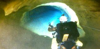 Imaxe dunha das expedicións recentes na Buraca das Choias. Fonte: Geoceanic.