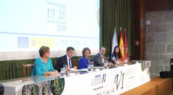 De esquerda a dereita, Ángeles heras, Núñez Feijoo, a raíña Sofía, Antonio López e María Rozas. Foto: Servimav.