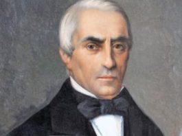Domingo Fontán, retratado ao óleo por Antonio María Esquivel.