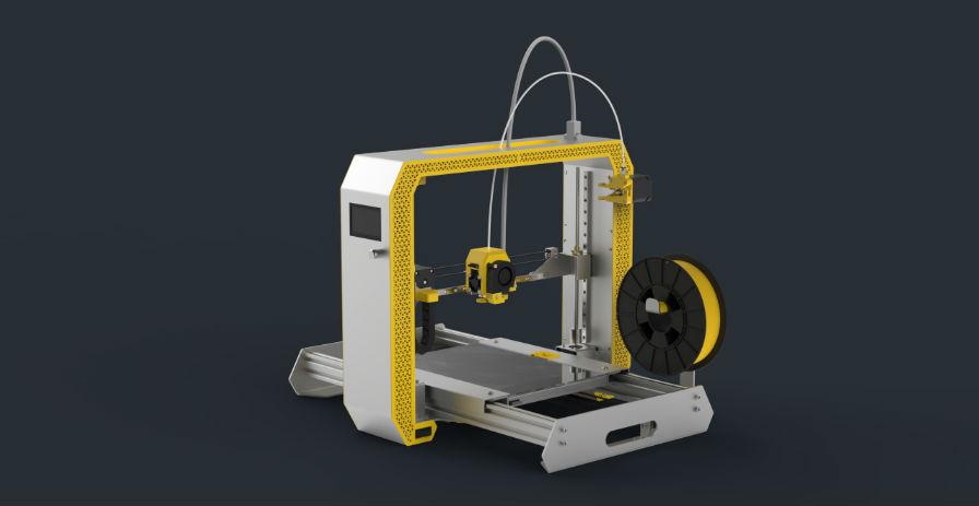 Modelo propio de impresora 3D desenvolvido por ITFAB.