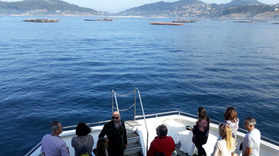 Viaxe de presentación do proxecto Mar de Ciencia, este venres na ría de Vigo.