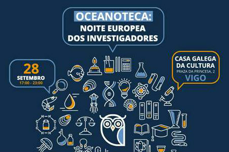Cartel sobre a Noite europea dos investigadores. Fonte: IEO.