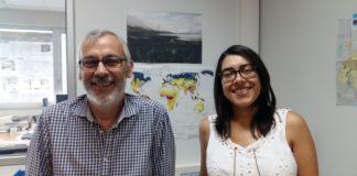 Antonio Martínez Cortizas e Noemí Silva Sánchez. Foto: USC.