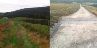 Antes e despois do Camiño Primitivo no tramo que pasa pola Fonsagrada. Fonte: Adega.