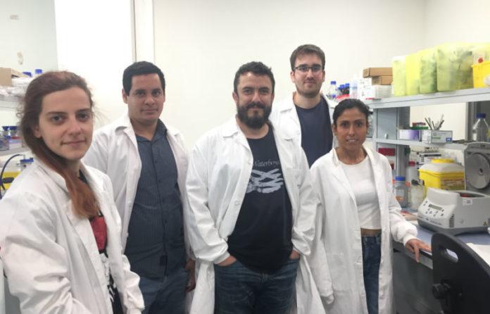 Equipo do laboratorio de Células Nai en Cancro e Envellecemento do IDIS, dirixido por Manuel Collado (centro).