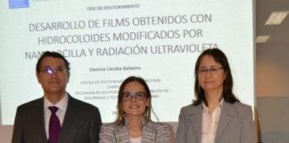 Davinia Candia Balseiro, entre Ángel Cobos e Olga Díaz. Foto: USC.