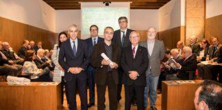 Acto de entrega del III Premio Galicia de Xornalismo Cientifico a Manuel Vicente Garcia, otorgado pola Real Academia das Ciencias.
