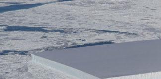 Un dos icebergs retratado pola NASA, desprendido da gran plataforma Larsen C.