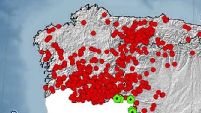 Actuacións dos medios aéreos de extinción do Ministerio en 2011, un dos peores anos de incendios en Ourense. Fonte: Mapama.gob.