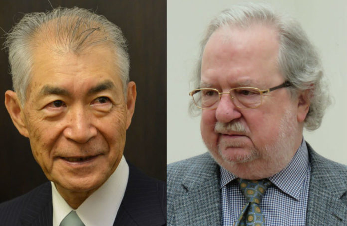 Os 'pais' da inmunoterapia: Tasuku Honjo e James P. Allison. Fonte: nobelprize.org.