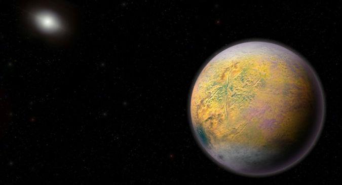 A existencia dun planeta X podería ser a razón que inflúe na órbita do planeta anano do Trasgo, que acaba de ser descuberto. Ilustración de Roberto Molar Candanosa e Scott Sheppard / Cortesía de Carnegie Institution for Science.