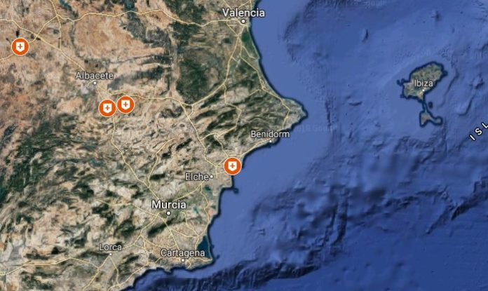 Casos de SCA36 confirmados nas provincias de Albacete e Alicante.