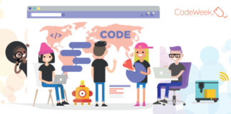 A Semana da Programación busca enriquecer as competencias dixitais dos estudantes e os docentes. Fonte: codeweek.eu.