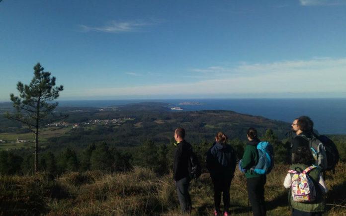 Vista desde a cima do Monte Neme durante as actividades destes días.