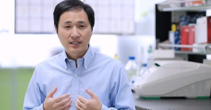 He Jiankui, científico chinés que afirma ter obtido os bebés editados xenéticamente. Fonte: Youtube.