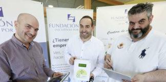 Germán Feijoo, Gonzalo Abuín e César González, de Data Monitoring.